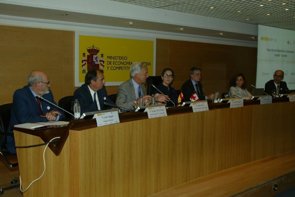 Panel de las relaciones comerciales entre España y Canadá foto 6