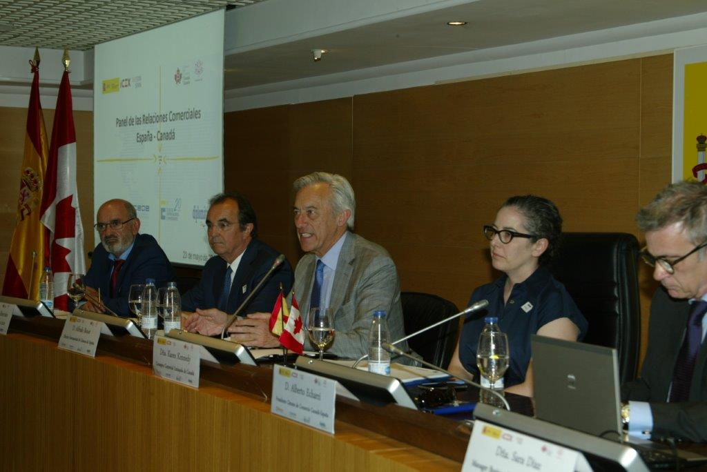Panel de las relaciones comerciales entre España y Canadá foto 3